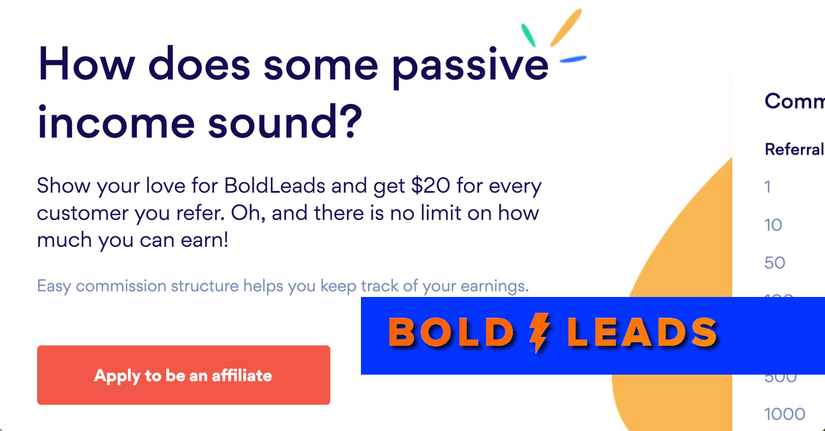 Affiliate Program | BoldLeads
